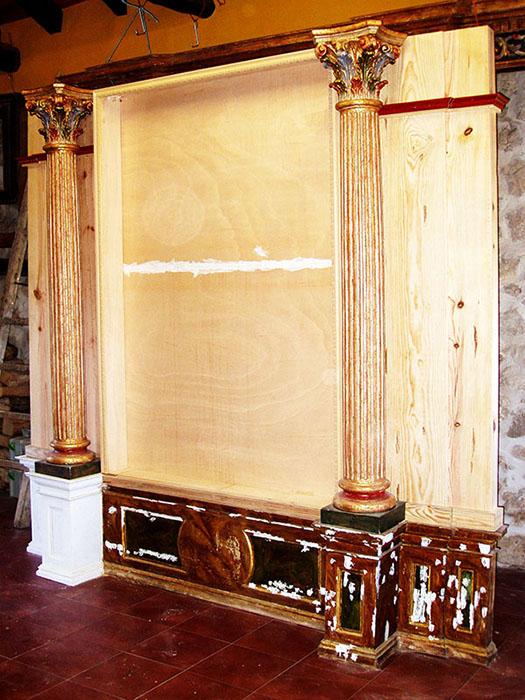 Construcción de retablo