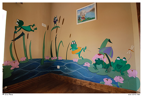 Pintura mural ranas