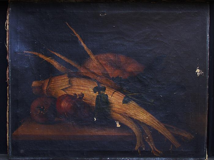 Restauración cuadro cardo/1