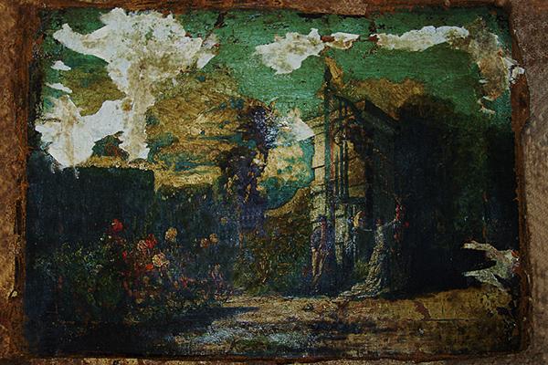 Restauración cuadro jardín/1
