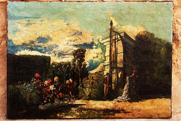 Restauración cuadro jardín/2