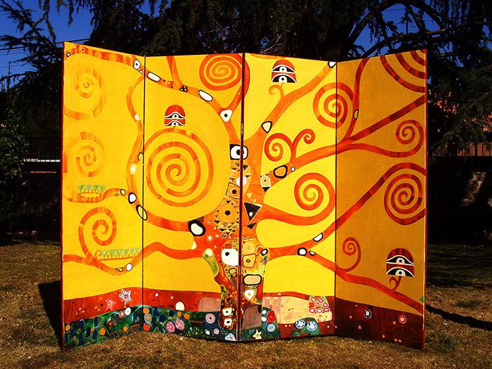 Biombo Klimt