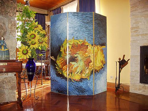 Biombo girasoles Van Gogh
