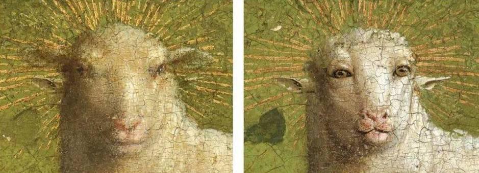 Cordero místico errores restauración