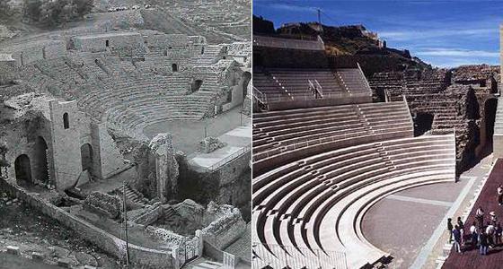 Teatro romano errores restauración