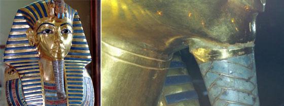 Tutankamon errores restauración
