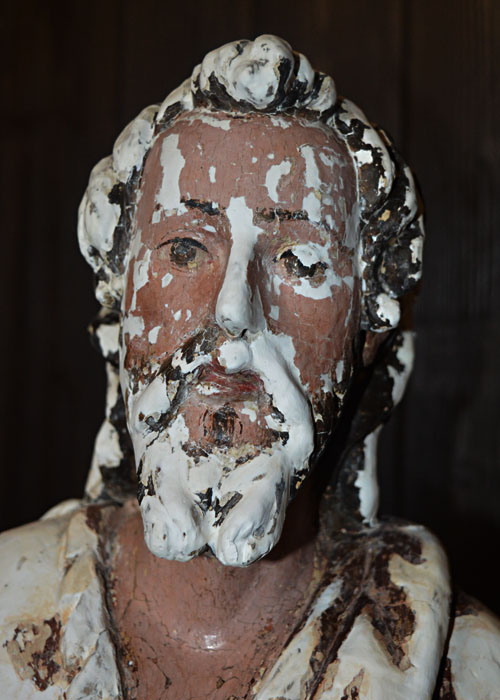 Escultura Bautista/cara estucos