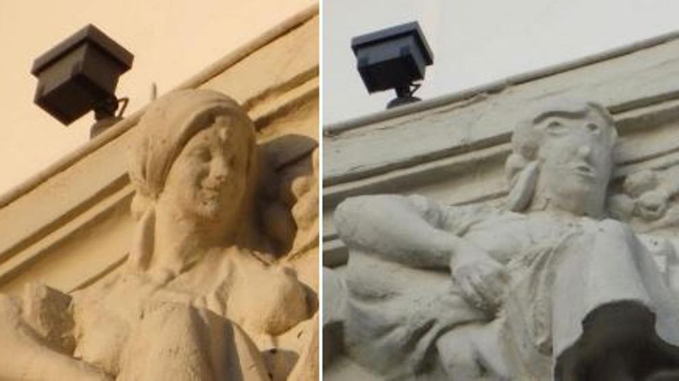 Escultura/error de restauración