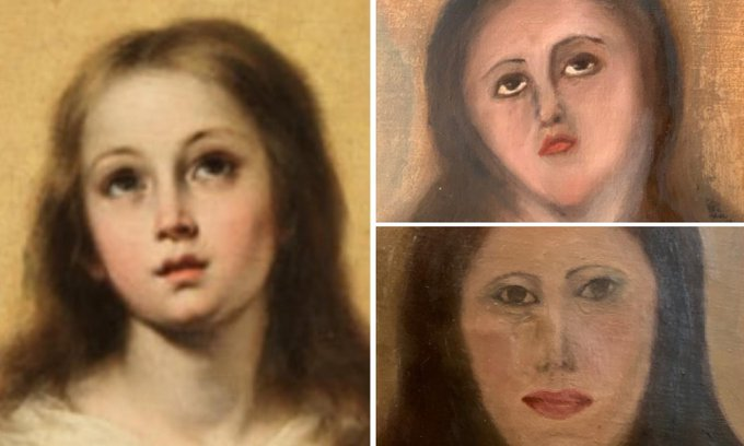 Pintura al óleo/error en restauración